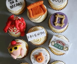 friends, cupcake, and tv show image