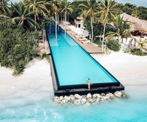beach, travel, and pool image