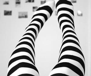 black, stripes, and fashion image