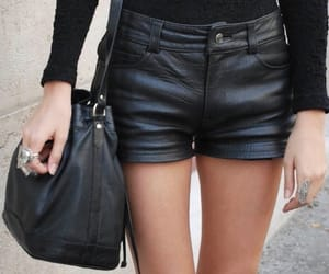 leather shorts image