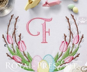 easter egg, embroidery design, and etsy image