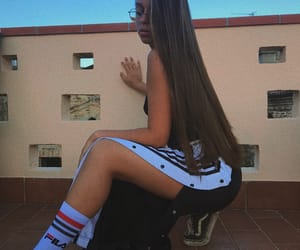 adidas, beautiful, and brown hair image