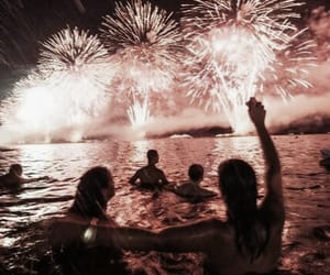 fireworks, party, and summer image
