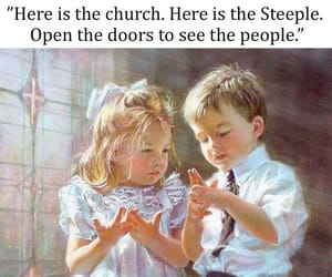 art, children, and Christianity image