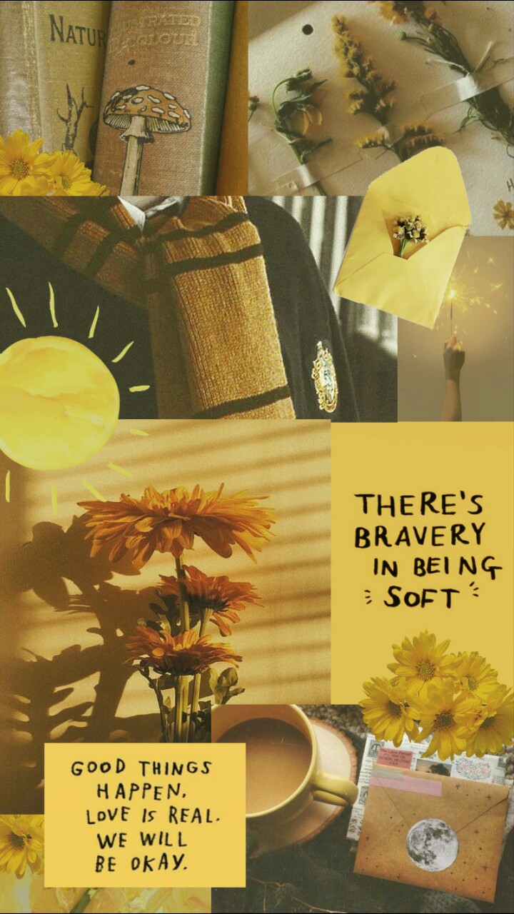 Aesthetic Collage Yellow Discovered By Justeverything