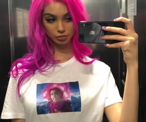 pink, aesthetic, and hair image