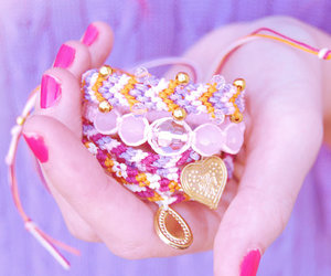 arm candy, friendship bracelet, and beach fashion image