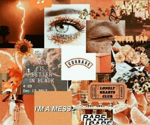 aesthetic, Collage, and orange image