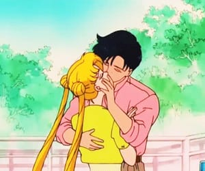 sailor moon, anime, and kiss image
