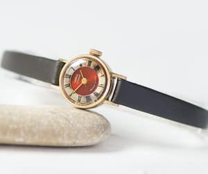 etsy, gold plated watch, and women watch gold image