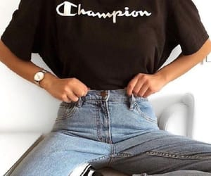 outfit, fashion, and champion image