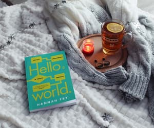 book, helloworld, and tea image