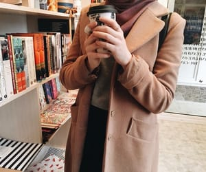 coffee, hijab, and mode image