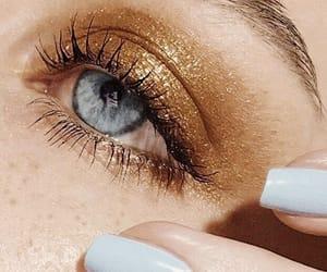 beauty, eyeshadow, and blue image