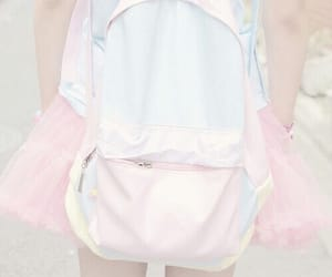 pastel, pink, and backpack image