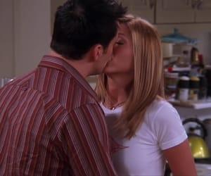 joey tribbiani, joey and rachel, and kisses image