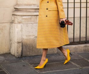 fashion, outfit, and yellow outfit image