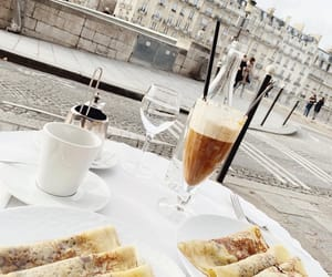 alfresco, coffee, and crepes image