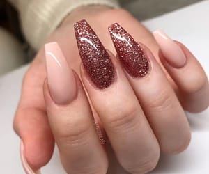 beauty, nails, and peach image