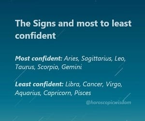 confidence and zodiac signs image