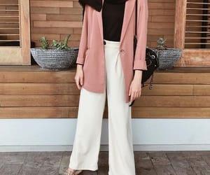 hijab fashion, fashion hijab, and ootd image