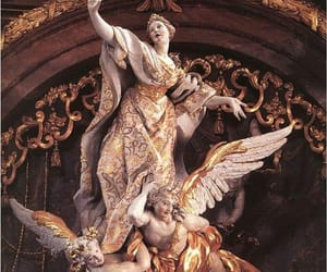 angel, gold, and art image