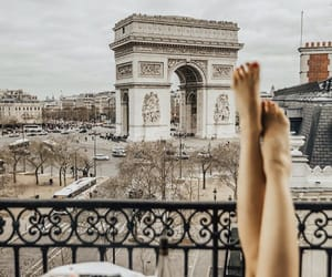 arc de triomphe, pretty, and travel image