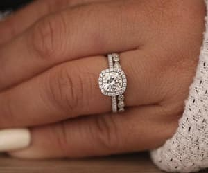 diamond ring, engagement ring, and cushion cut image