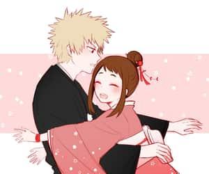 anime, kacchako, and anime couple image