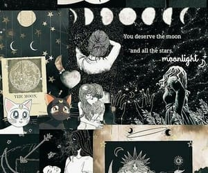 wallpaper, Collage, and moon image