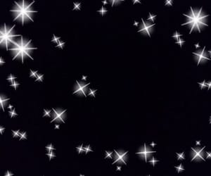 background, silver, and stars image