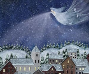 fairy tale, illustration, and snow image