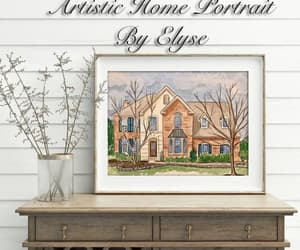 etsy, wall art, and watercolor painting image