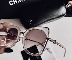 chanel, nails, and sunglasses image