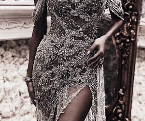 detail, dress, and high fashion image