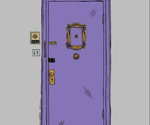 friends, door, and wallpaper image