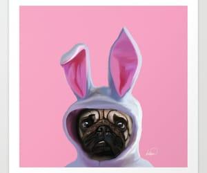 dog love, pug lover, and art prints pugs image