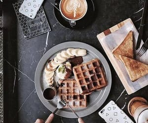 breakfast, food, and waffles image