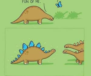 butterfly, dino, and dinosaur image