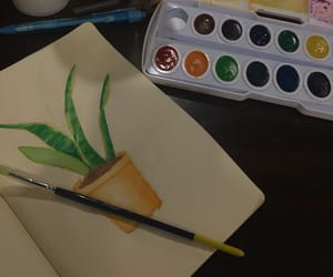 plant, watercolor, and polychromatic image