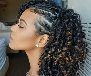 curly, flat twists, and hair image
