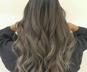 coloured, ash brown, and hair image