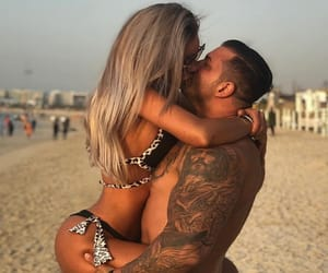 babe, beach, and couple image