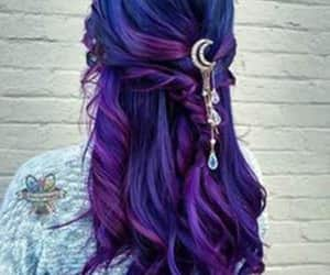 hair, ideas, and purple image