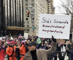 feminism, women's march, and fight image