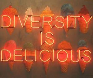 orange, diversity, and neon image