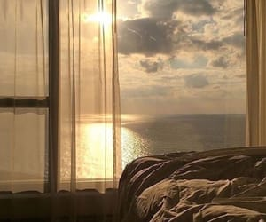 aesthetic, sea, and sunset image