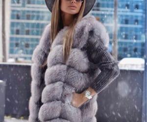 fashion, winter, and grey image