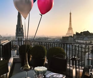 background, balloon, and cities image