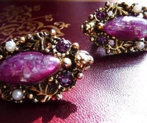 etsy, clip earrings, and vintage jewelry image
